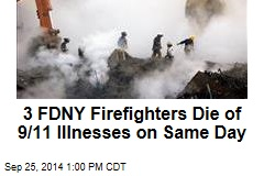 3 FDNY Firefighters Die of 9/11 Illnesses on Same Day