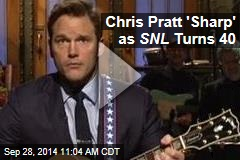 Chris Pratt 'Sharp' as SNL Turns 40