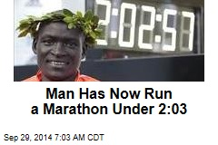 Man Has Now Run a Marathon Under 2:03