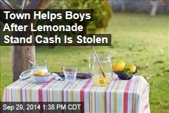 Town Helps Boys After Lemonade Stand Cash Is Stolen