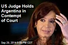 US Judge Holds Argentina in Contempt of Court