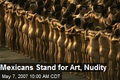Mexicans Stand for Art, Nudity