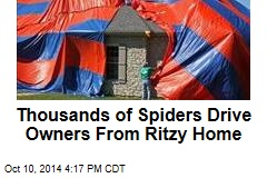 Thousands of Spiders Drive Owners From Ritzy Home