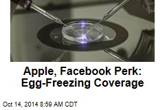 Apple, Facebook Perk: Egg-Freezing Coverage