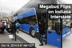 Megabus Flips on Indiana Interstate