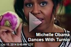 Michelle Obama Dances With Turnip