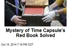 Mystery of Time Capsule's Red Book Solved
