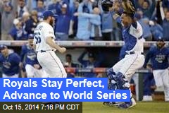 Royals Stay Perfect, Advance to World Series