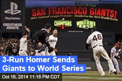 3-Run Homer Sends Giants to World Series
