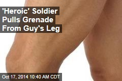 'Heroic' Soldier Pulls Grenade From Guy's Leg