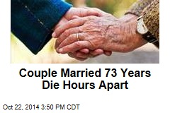 Couple Married 73 Years Die Hours Apart