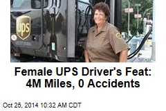 Female UPS Driver's Feat: 4M Miles, 0 Accidents