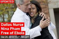Dallas Nurse Nina Pham Free of Ebola