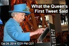 What the Queen's First Tweet Said
