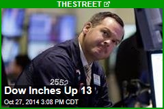 Dow Inches Up 12