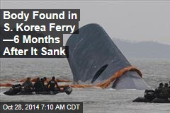 Body Found in S. Korea Ferry —6 Months After It Sank