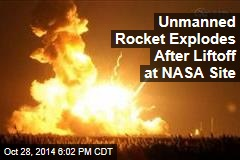 Unmanned Rocket Explodes After Liftoff at NASA Site