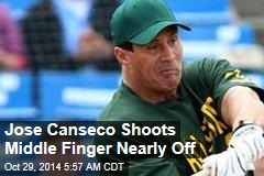 Jose Canseco Accidentally Shoots His Own Hand