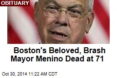 Boston's Beloved, Brash Mayor Menino Dead at 71