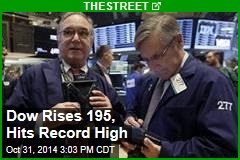 Dow Rises 194, Hits Record High