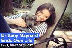 Brittany Maynard Ends Own Life