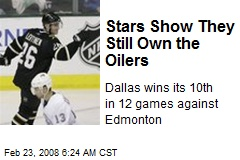 Stars Show They Still Own the Oilers