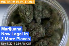Ballot Measures: Oregon, DC Legalize Pot