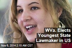 West Virginians Elect Youngest State Lawmaker in Nation