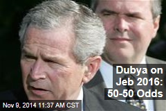 Dubya on Jeb 2016: 50-50 Odds