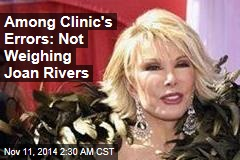 Joan Rivers' Clinic Accused of Several Failings
