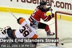 Devils End Islanders Streak