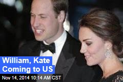 William, Kate Coming to US