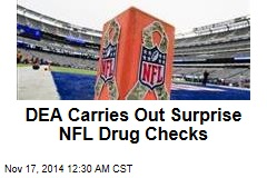 DEA Carries Out Surprise NFL Drug Checks