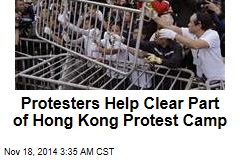 Bailiffs Clear Hong Kong Protest Site