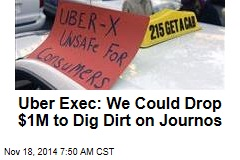 Uber Exec: We Could Drop $1M to Dig Dirt on Journos