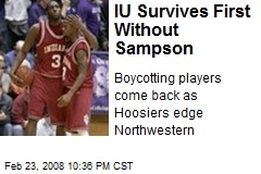 IU Survives First Without Sampson