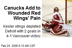 Canucks Add to Wounded Red Wings' Pain
