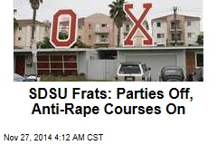 SDSU Frats: Parties Off, Anti-Rape Courses On