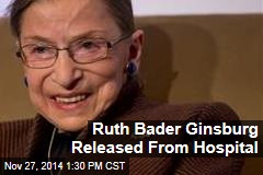 Ruth Bader Ginsburg Released from Hospital