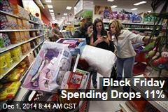 Black Friday Spending Drops 11%