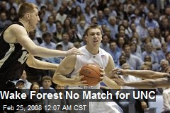 Wake Forest No Match for UNC