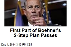 First Part of Boehner's 2-Step Plan Passes
