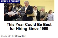 This Year Could Be Best for Hiring Since 1999