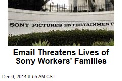 Email Threatens Lives of Sony Workers' Families