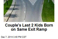 Couple Has 2 Kids Born on Same Exit Ramp