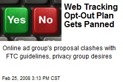 Web Tracking Opt-Out Plan Gets Panned