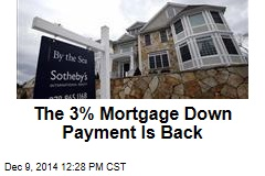 The 3% Mortgage Down Payment Is Back