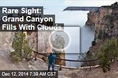 Rare Sight: Grand Canyon Fills With Clouds