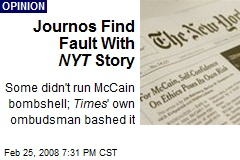 Journos Find Fault With NYT Story