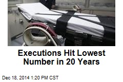Executions Hit Lowest Number in 20 Years
